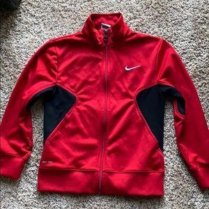 Big Boys Nike Zip front Jacket Coat Size M
